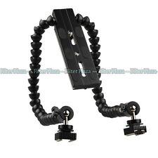 Flexible Dual/ Twin-Arm/Hot shoe Flash Bracket for CANON NIKON PENTAX MACRO SHOT