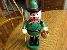 Vintage Smoker Wooden  Green with Apple Basket Not Marked