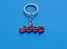 RED JEEP RENEGADE WRANGLER COMMANDER COMPASS CHEROKEE KEYCHAIN KEY RING NEW
