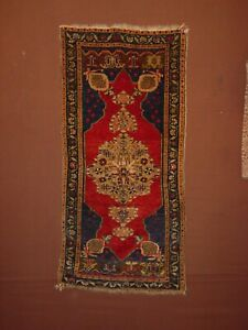 WONDERFUL ANTIQUE MUDJUR CENTRAL ANATOLIAN SMALL RUG ****HG***
