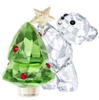 New in Box SWAROVSKI Kris Bear with Christmas Tree Annual Edition 2018 #5399267