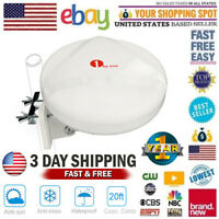 1byone Omni-directional TV Antenna 360 Degree Reception Amplified HDTV Outdoor