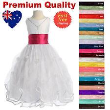 Elegant White Flower Girl Dress & Necklace Communion Confirmation Girls Dress