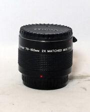 Vivitar 2x Matched Multiplier 70-150mm 1:3.8 Zoom Lens 35mm Pentak SLR Film