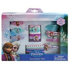 Frozen 20 pc Hair Accessory Kit 3 barrettes,4 snap clips,6 elastics,7 Terries
