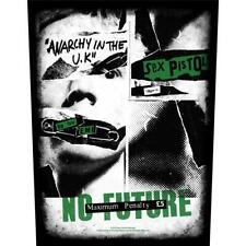 More details for official licensed - sex pistols - no future back patch punk lydon