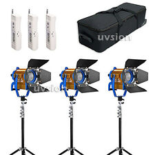 150W Wireless Remote Dimmable Bi-color  LED Spotlight lighting*3+stand*3 kit