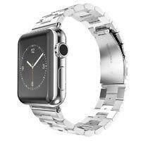 Saxonia Edelstahl Armband Uhren Band für Apple Watch iWatch 42mm Adapter Silber