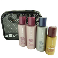 JOICO Travel Care Set - Colored Curly Hair Shampoo Conditioner Oil Styling - 5pc