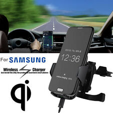 New Qi Fast Wireless Car Charger Air Vent Mount Holder for Samsung S9 iPhone X 8