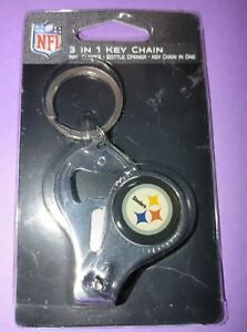 NFL Pittsburgh Steelers 3 in 1 Keychain Nail Clipper Bottle Opener Free Ship
