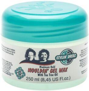 Stylin' Dredz Moulding Gel Wax with Tea Tree Oil Hair Care 250 ml Maximum Hold