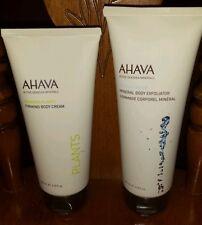 AHAVA Deadsea Plants Firming Body Cream AND AHAVA Deadsea Water Body Exfoliator