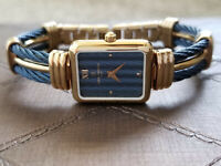 MIchel Herbelin Ladies Watch Gold Plated Blue Cable FRENCHMADE Swiss Movement