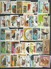 DOG  THEMED STAMPS OFF PAPER X 50  -  GOOD MIX   -  ALL DIFFERENT