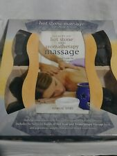 Hot Stone Massage Therapy Book andBasalt River Stones Kit Home Spa Open Package