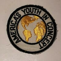 Vintage AMERICA'S YOUTH IN CONCERT Patch Round AYIC Choir Band Music Peace RARE