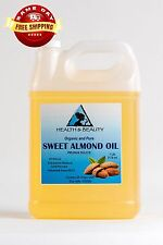 SWEET ALMOND OIL ORGANIC by H&B Oils Center COLD PRESSED PREMIUM 100% PURE 7 LB