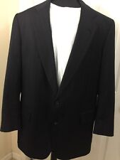 Jos. A. Bank Signature Collection Wool Navy Blue Pin Stripped blazer 46L Sharp!!