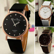 Elegant Damen Mädchen Quarz Uhren Diamant Leder Casual Armbanduhren Watch Gift