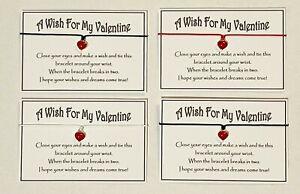 A Wish For My Valentine * Valentines Day * Wish Bracelet Love Heart Enamel Charm