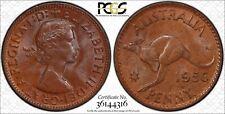 Australia 1956 Perth Penny PCGS MS64BN lot 0422