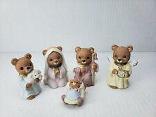 New ListingHomco 5412 Bears Nativity Set Christmas - Ceramic Porcelain Figurines Lot of 5