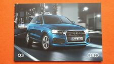 Audi Q3 Sport S Line Edition Black brochure catalogue October 2016 MINT Q 3 B