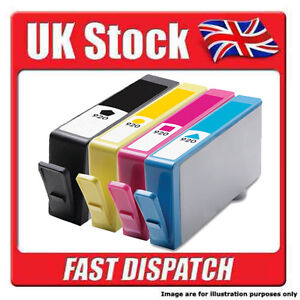 BLACK / MAGENTA / YELLOW / CYAN  -  HP 920 with  WITH CHIP Ink Cartridges......
