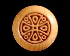 Bridge Pins for Guitar, Boxwood, Engraved Celtic Cross
