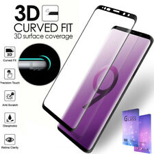 Galaxy S9 S8 Plus S9+ Case Friendly tempered Glass Screen Protector for Samsung