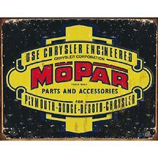 Mopar Chrysler Vintage Style Retro Metal Sign Plymouth Dodge Desoto