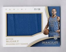 2014-15 IMMACULATE MITCH McGARY RC 33/38 PLAYER CAPS PATCH OKC 1/1 JERSEY NUMBER