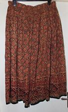 Plus Size Brown Mix Elasticated Skirt Size 18-20