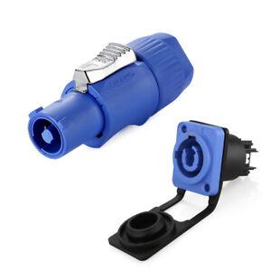Industrial Electrical Powercon IP65 Plug Socket 3Pin Waterproof Connector NACFCB