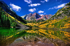 Marron Bells Colorado 24x36 Photo picture canvas art mine fall colors Aspen lake