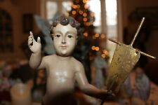 Gorgeous Jesus as Boy Statue from Wisteria Catalog Well Made Holding Metal Cross