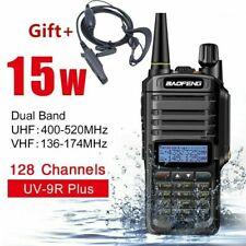15W Baofeng UV-9R Plus Walkie Talkie VHF UHF Dual Band Handheld Two Way Radio