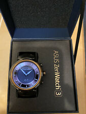 Asus ZenWatch 3 WI503Q AMOLED Smart watch Stainless Steel Gunmetal/Brown Leather