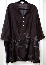 Coldwater Creek 2X long sleeve cotton/silk tunic top NWT