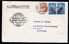 Zeppelin 1931,1.SAF, Brasilianische Post mit Paar 5000 R., Sieger 125 B