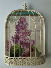Home & Garden Decor Metal Wall Art Wall Hanging Birdcage With Hinges Open