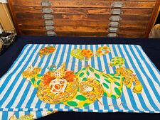 2 VINTAGE RINGLING BROTHERS CIRCUS GREATEST SHOW ON EARTH PILLOWCASES Clown