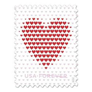 USPS 'Made of Hearts' Forever Postage Stamps, Full Pane of 20 (Free Shipping)