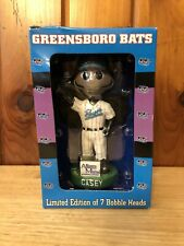 Greensboro Bats Casey Bobblehead April 19, 2003 Extinct Mascot! Limited and Rare