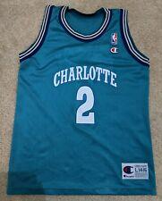 VTG Champion Larry Johnson Jersey Charlotte Hornets #2 NBA - Vintage 90s Size YL