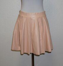 XXI Forever 21 Peach PVC Pleated Exposed-Zipper Mini Skirt Junior Medium M