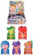 12 Dinosaur Finger Puppets - Pinata Toy Loot/Party Bag Fillers Wedding/Kids