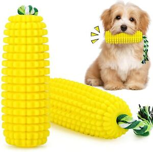 Dog Chew Toys Puppy Toothbrush Clean Teeth Care Interactive Corn Toy Aggressive