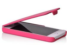 Real Leather Flip Case For Iphone 5,5S PINK Col, Best Christmas Gift.